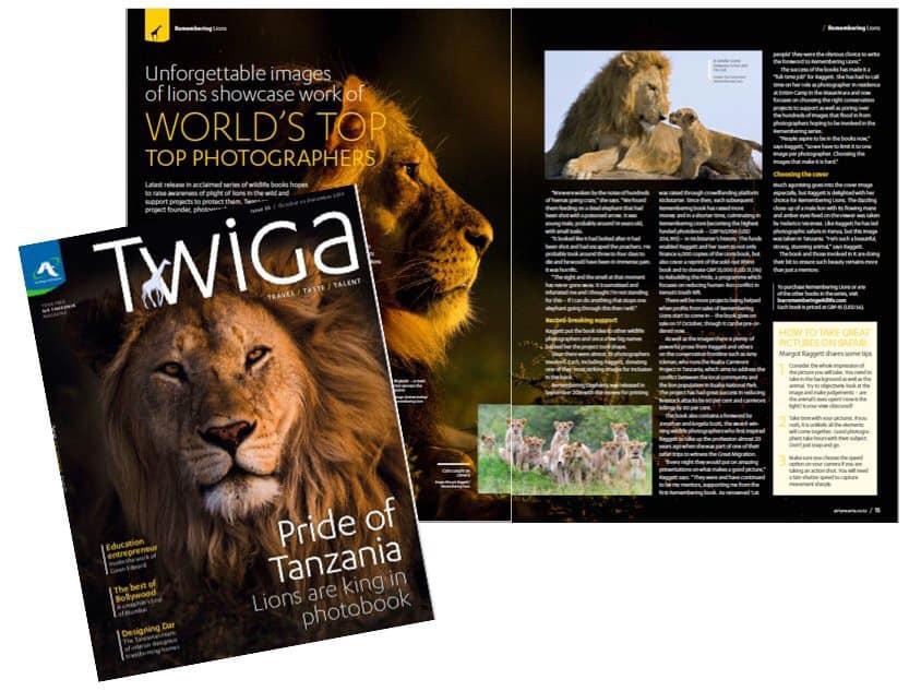 Twiga Air Tanzanie - Remembering Lions - Wildlife Photographers United