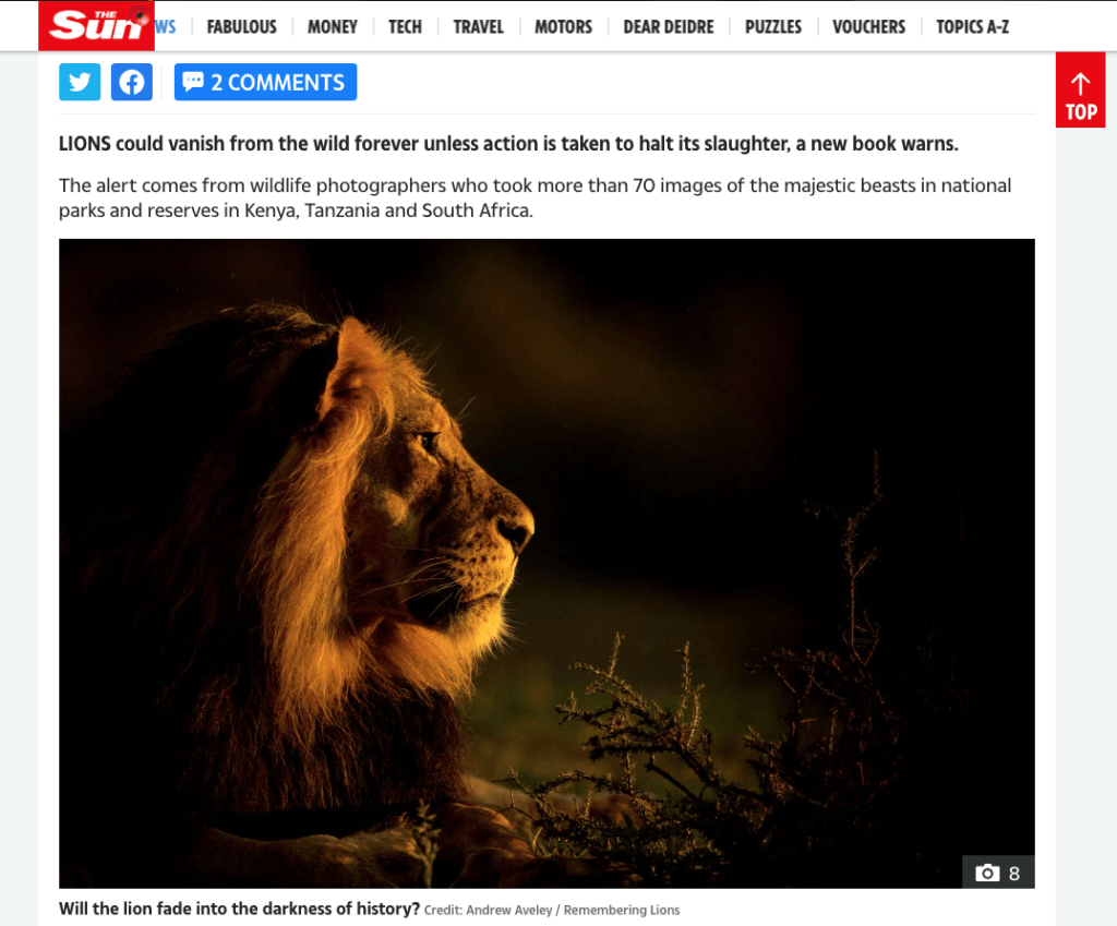 then.com - Remembering Wildlife - Wildlife Photographers United